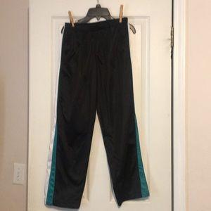 Nice black sweats with stripe down side